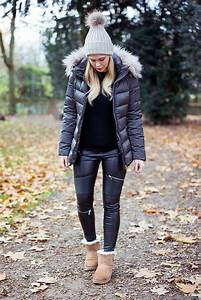 Sunnyinga - Ugg Boots Leather Leggings Down Jacket Hat - My UGG winter look | LOOKBOOK