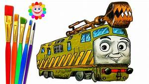 How To Draw Train Thomas And Friends Trains Video For Kids Coloring Pages Diesel 10