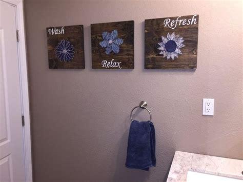 craft ideas for bathroom diy bathroom wall string to add a pop of color