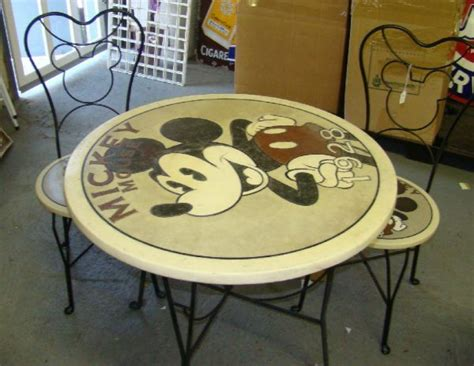 Find a contemporary coffee table idea to match your taste. MICKEY MOUSE BISTRO TABLE & CHAIRS | Mickey mouse kitchen, Disney furniture, Disney home decor