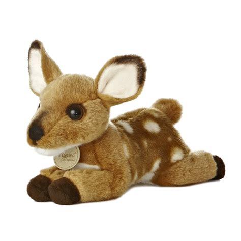 realistic stuffed deer fawn 8 inch plush animal by aurora