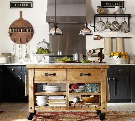 kitchen islands pottery barn a kitchen that s on a roll kitchens pinterest cabinets pottery and rolling island