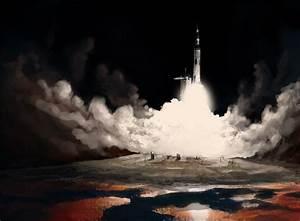 Saturn V Launch by Luftwaffles on DeviantArt
