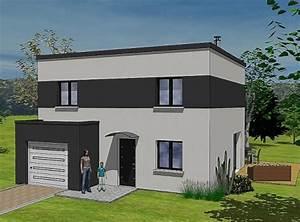 maison de ville moderne toit plat With couleur de fa ade moderne