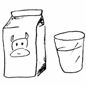 Milk black and white clipart kid - Cliparting.com