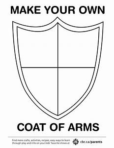 Make your own coat of arms play cbc parents for Make your own coat of arms template