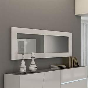 Miroir Rectangulaire Mural : miroir design blanc lizea ~ Teatrodelosmanantiales.com Idées de Décoration