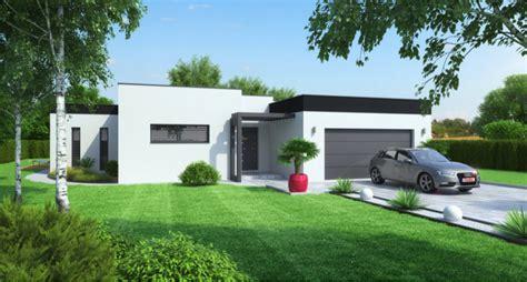 plan de maison plain pied 4 chambres villa louane contemporaine 4 pièces avec garage