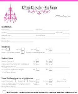 Salon Client Consultation Forms