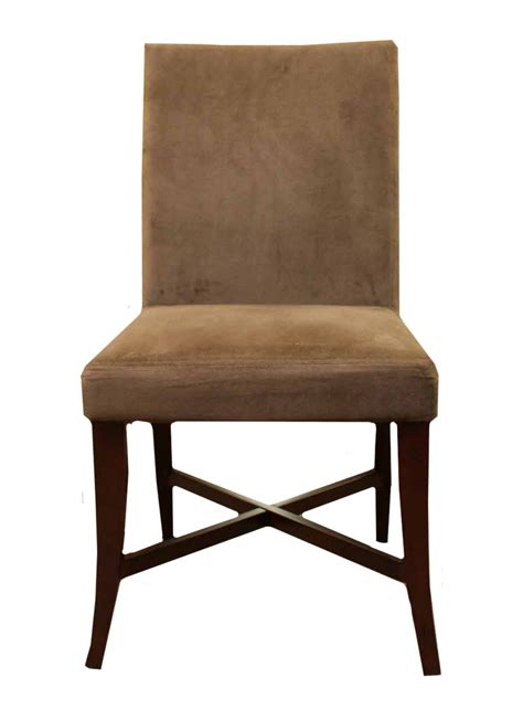 crate barrel and restoration hardware microsuede chairs