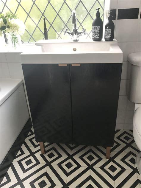 diy ikea hack bathroom sink cupboard lillangen wash basin