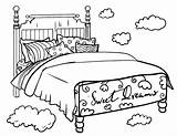 Coloring Bed Pages Bedtime Colouring Clipart Printable Pdf Coloringcafe Sheet Sheets Printables Bedroom Beds Cartoon Template Clip Adult Transparent Furniture sketch template