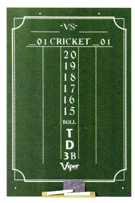 cricket chalk dart scoreboard