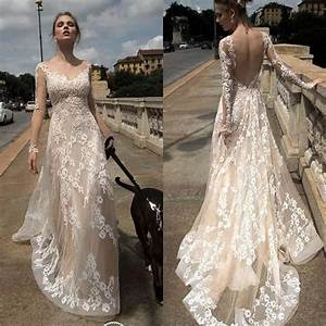 Sexy back open appliqued beach wedding dresses 2017 for Open back wedding dresses lace
