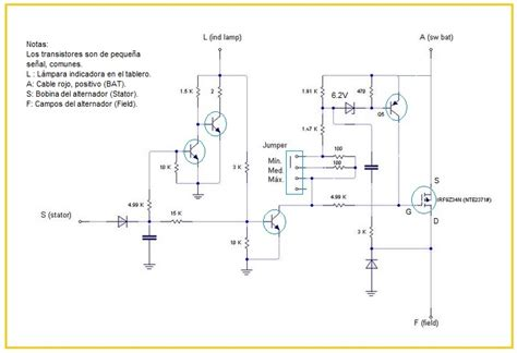 diagrama de un regulador de voltaje de 12v para auto