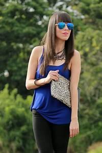 Negro y azul con un toque de u201canimal printu201d - Blog de Moda Costa Rica - Fashion Blog