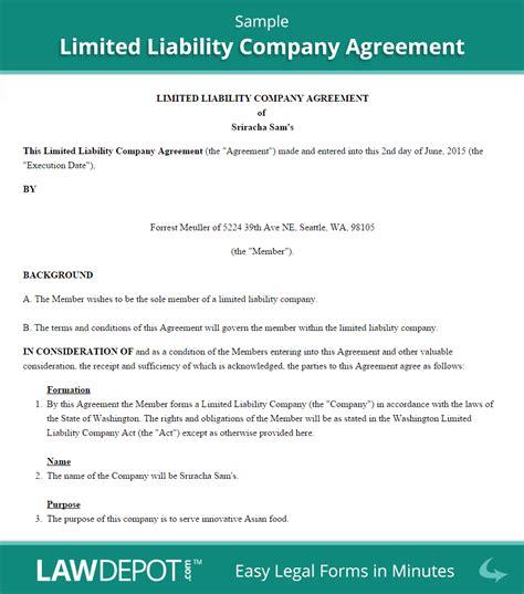 llc operating agreement template  lawdepot