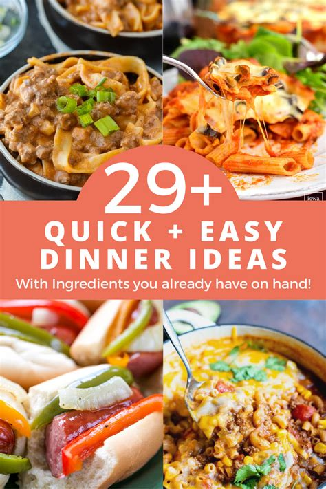 You need recipes that get meals on the table fast, are healthy to eat, and that kids will enjoy eating. 29+ Quick & Easy Dinner Ideas With Ingredients You Already ...