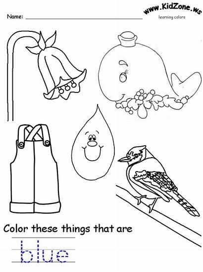 Colors Kidzone Prek Ws Worksheet Recognition Practice