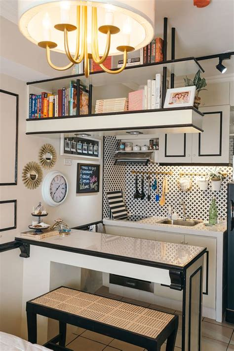 decorating kitchen countertops ideas a 22sqm studio unit with traditional and contemporary