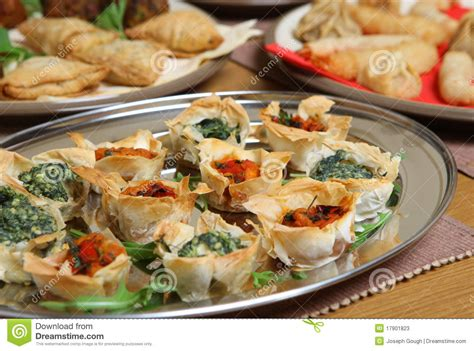filo pastry cases canapes mediterranean filo tartlet canapes stock photos image