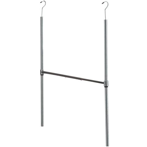 honey can do chrome adjustable hanging closet rod the