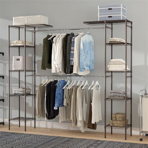 Hanging Wardrobe Closet by 15 Best Collection Of Wardrobe Hanging Rail