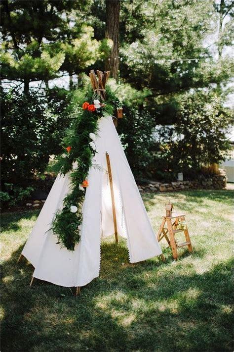 whimsical bohemian teepee wedding details deer pearl