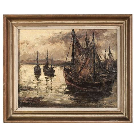 framed canvas sale vintage framed painting on canvas for sale at 1stdibs