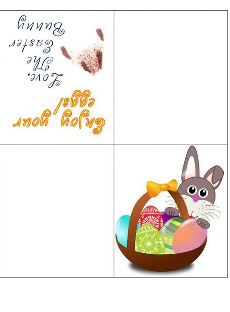 easter bunny  fold card enjoy  eggs rooftop