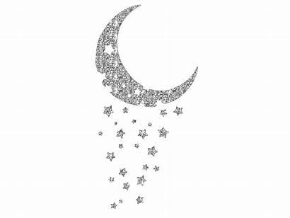 Glitter Moon Sparkles Graphics Stars