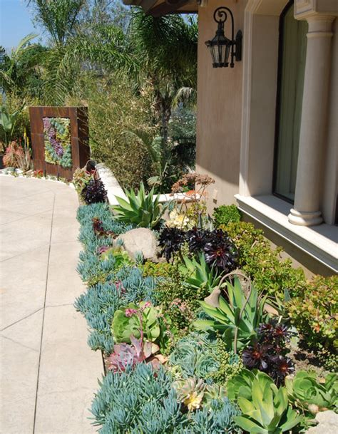 succulent landscape design a succulent wall contemporary landscape los angeles