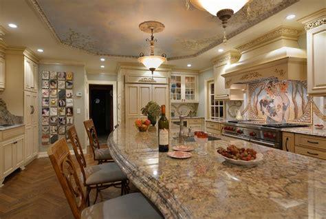 millenium granite kitchen traditional with beige