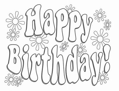 Birthday Coloring Happy Pages Colouring Printable Adult