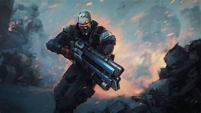 Soldier Overwatch 4k 76 Wallpapers Games Ultra