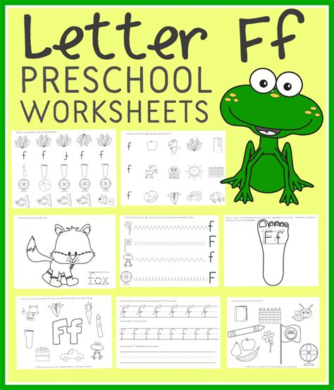 free letter f preschool worksheets instant free homeschool deals