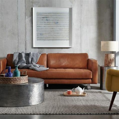 canapé d angle cuir gris 60 idées comment adopter la couleur caramel à la maison