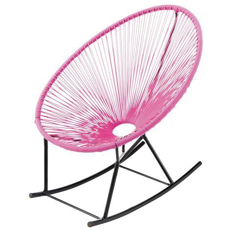 fauteuil 224 bascule de jardin rose copacabana maisons du