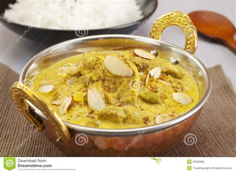 curry cuisine pasanda indian curry food meal cuisine stock photo
