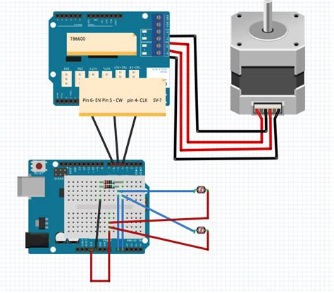 Arduino Uno Circuit Diagram For Running Bipolar Stepper