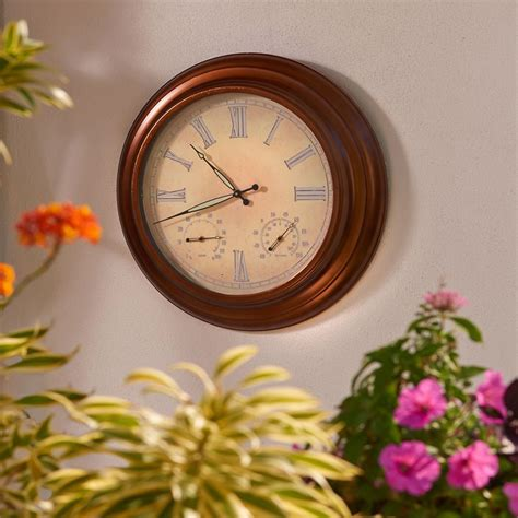 the 24 quot outdoor lighted atomic clock hammacher schlemmer