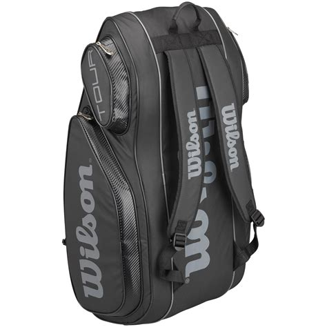 wilson    pack bag black tennisnutscom