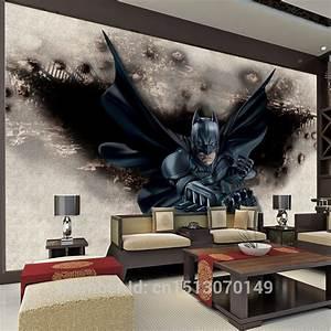 3D Amazing Batman Wall Mural Custom Large Photo wallpaper ...