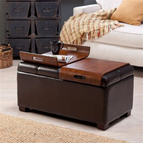 ottoman and coffee table square ottoman coffee table wood
