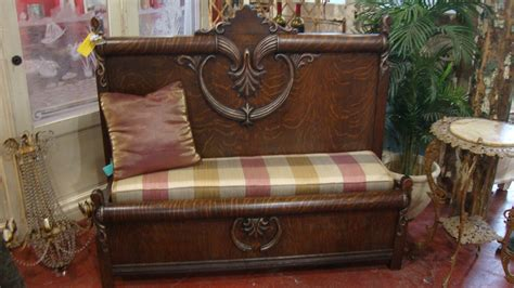 Benches Made Out Of Headboards by Custom Bench Made From A Reclaimed Antique Headboard And