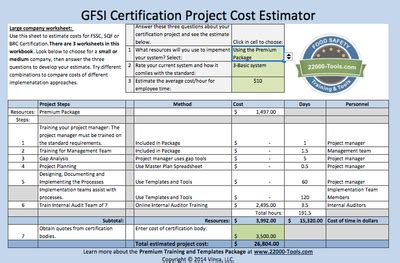 certification cost