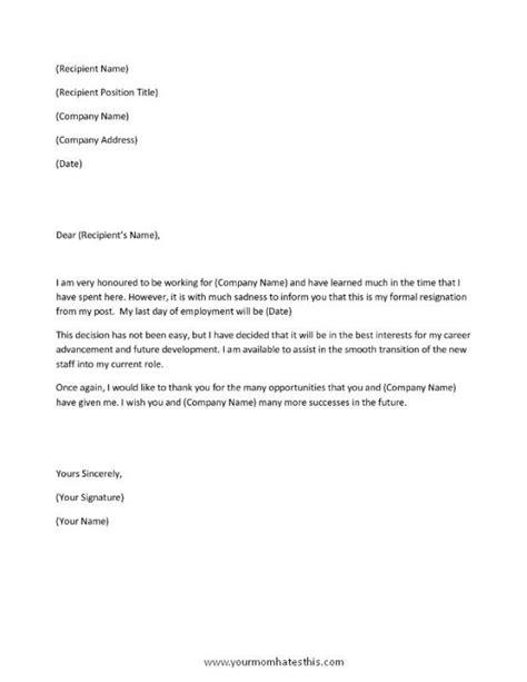 Resignation Letter Template Word   Letter template word, Resignation letter, Letter templates