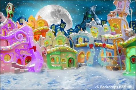 Grinch Backdrop by Backdrops Whoville 1 Backdrops Backdrops