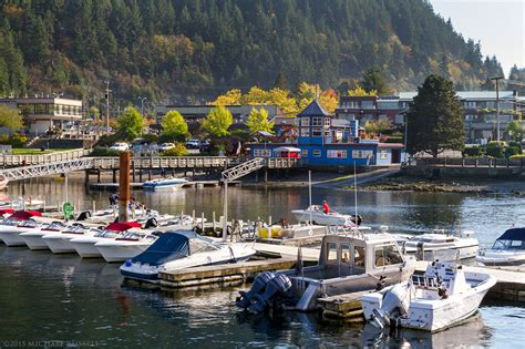 Sewells Boat Rentals by Horseshoe Bay On A Fall Day Michael Photography