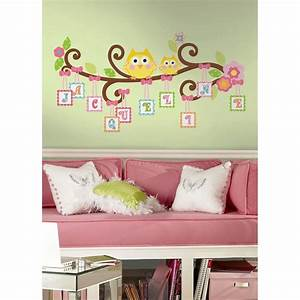 New giant scroll tree letter branch wall decals baby
